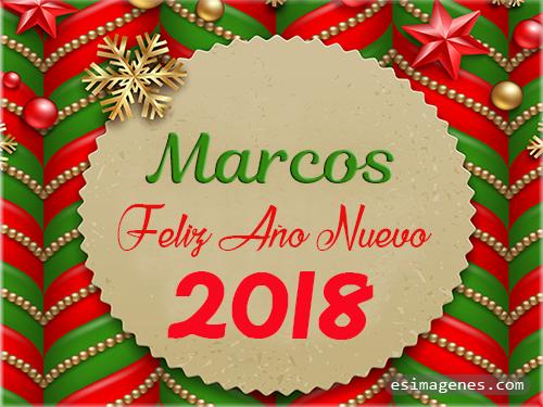 Feliz Año Nuevo 2018 Marcos - Tarjetas con Nombres | GiFs Feliz ...