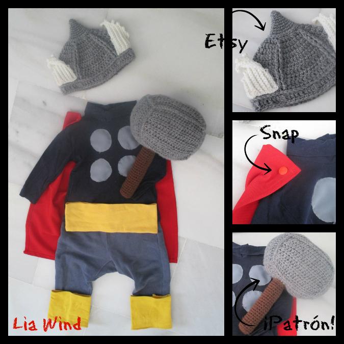 Disfraz diy de vikingo para bebé