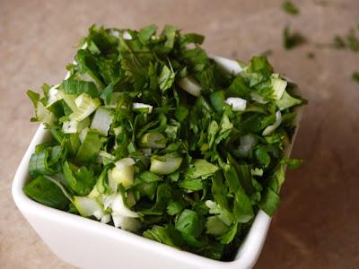 cilantro, green onions