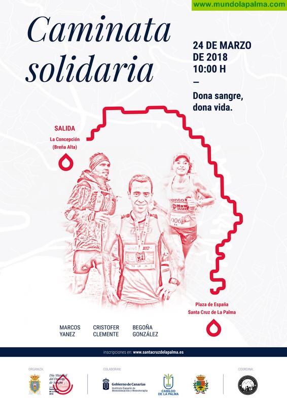 La I Marcha Solidaria Dona Sangre invita a la reflexión y el compromiso de la sociedad palmera