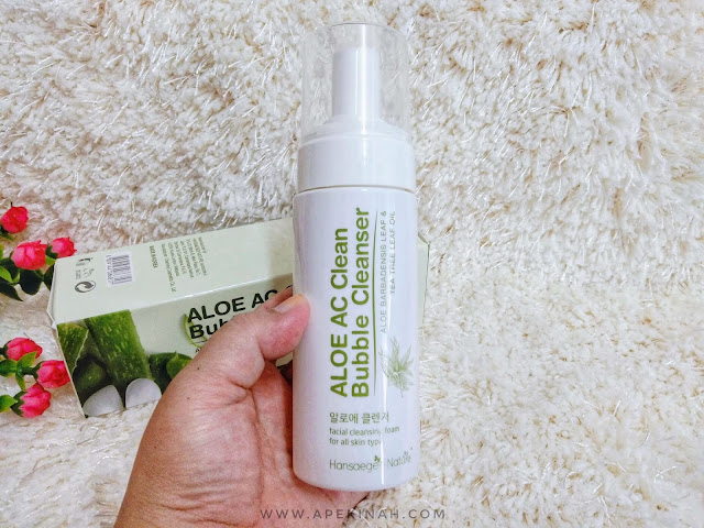 Kulit Semakin Bersih dan Lembap Dengan Hansaegee Nature Aloe AC Clean Bubble Cleanser, pencuci muka yang sesuai untuk semua jenis kulit, cleanser untuk kulit berminyak, cleanser untuk kulit jerawat dan berminyak pencuci muka, bubble cleanser