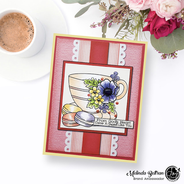 Coffee Lovers Blog Hop Joy Clair Card Front