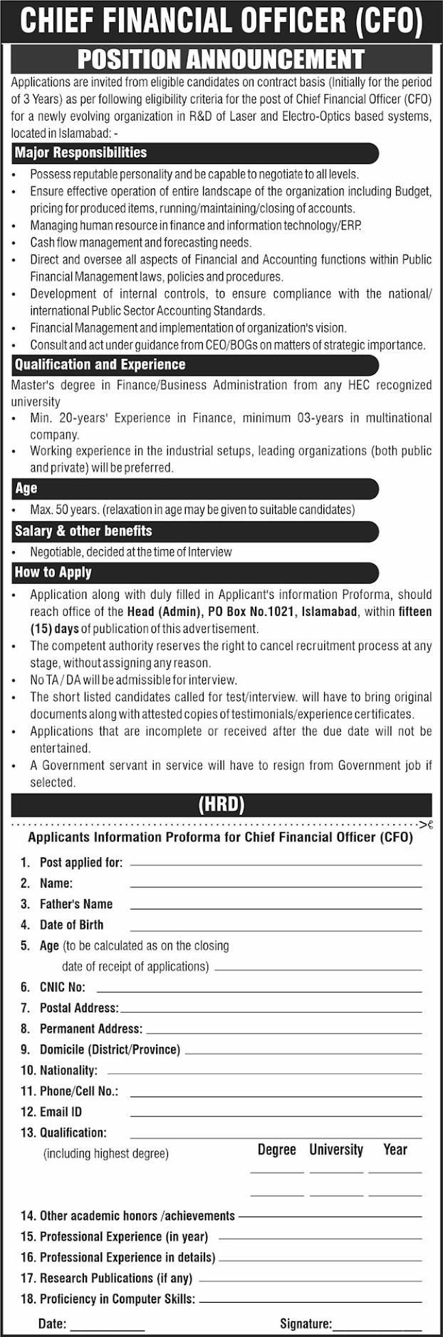 Chief-Financial-Officer-Job-vacancy-2021-