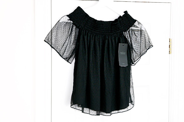 Katherine Penney Chic Blogger Haul Clothes Fashion Style Zara black top new off the shoulders