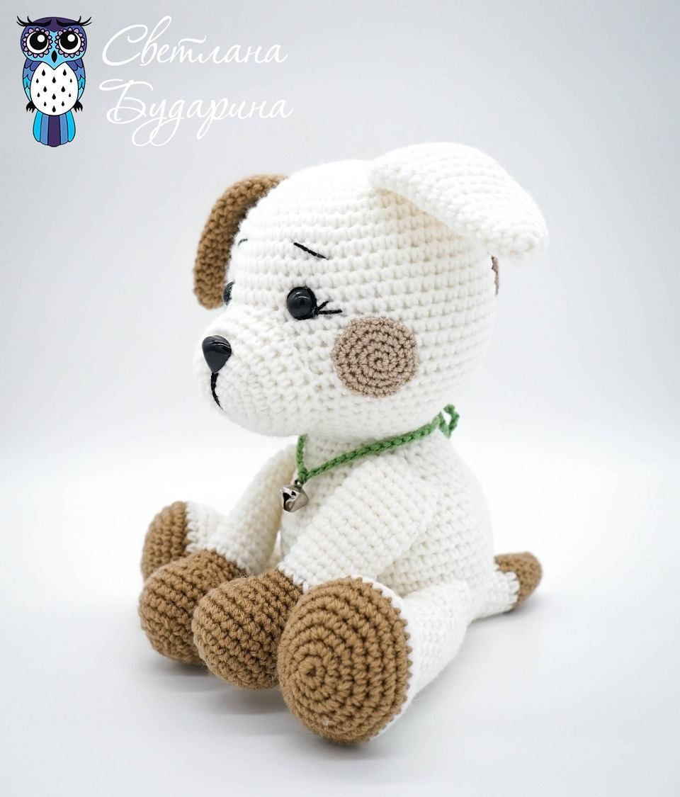 Knitted dog amigurumi