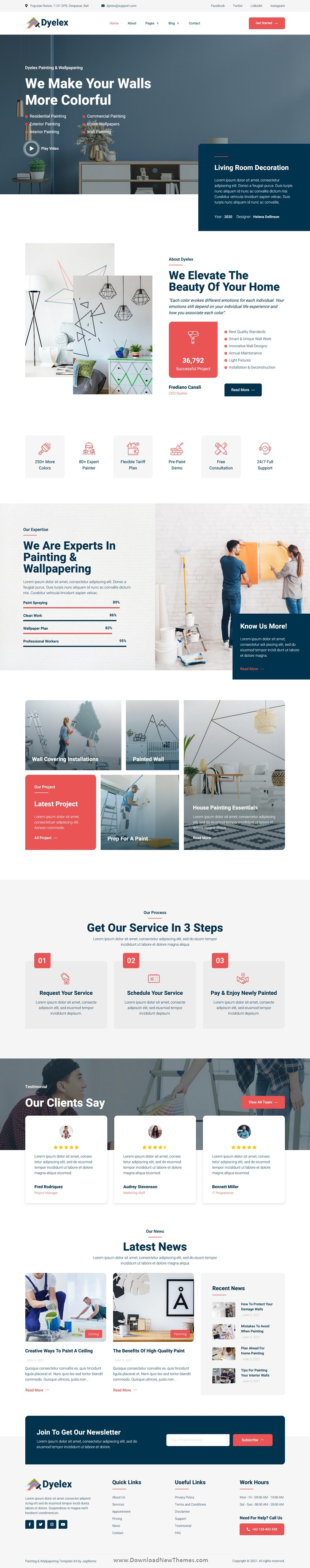 Painting & Wallpapering Service Elementor Template Kit