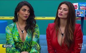 Giulia Salemi vestito verde floreale Dayane Mello Gfvip 19 febbraio