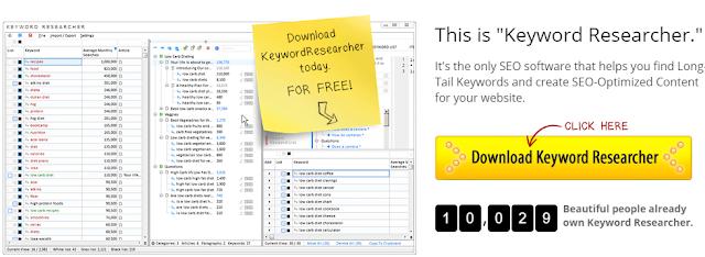 """utilizza """"key-word researcher"""" per trovare parole chiave"""