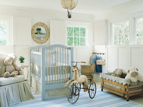 Shannon Bowers Swedish childrens bedroom nursery interior design antiques