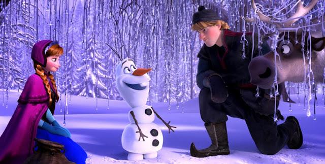Anna, Kristoff si Olaf