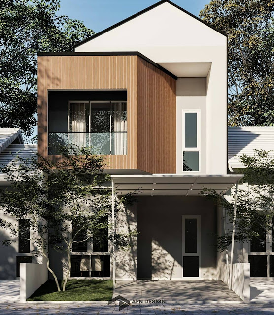 Model Rumah Minimalis 2 Lantai Modern Gaya Skandinavia