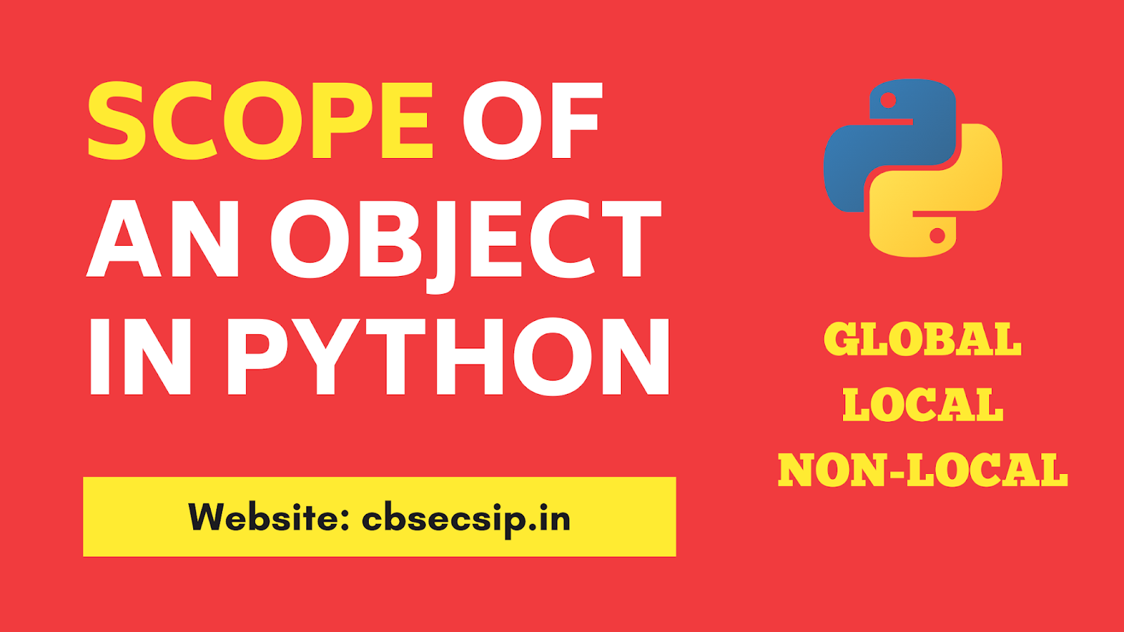 Variable scope in Python