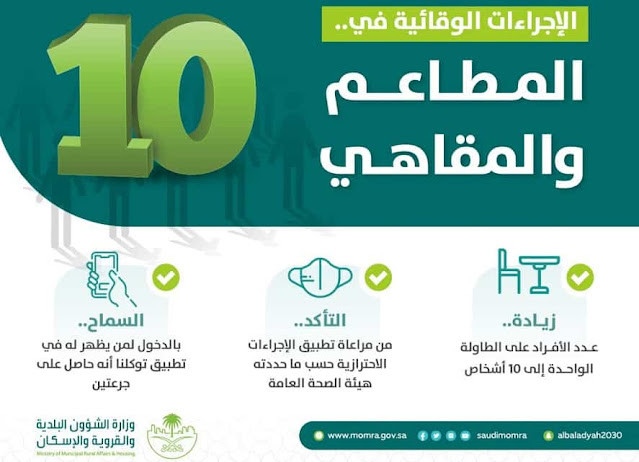 Increasing the number of People allowed at one Table to 10 in Restaurants and Cafes - Saudi-Expatriates.com
