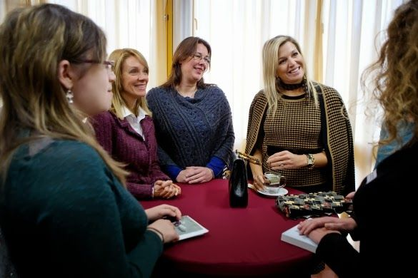 Queen Máxima attended a symposium, organized by the Ovaal foundation, on the occasion of the 10th anniversary of the Autism cafe in Leiden