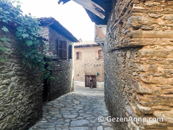 Birgi tarihi taş evlerinin güzelliği insanların hala içinde yaşıyor olması