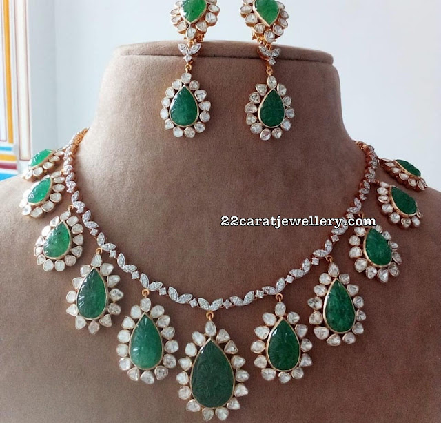 Curved Emeralds Diamonds Unique Sets