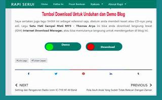 Tombol Download Untuk Unduhan dan Demo Blog