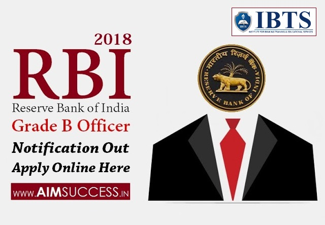 RBI Grade B 2018 Notification Out, Apply Online Here