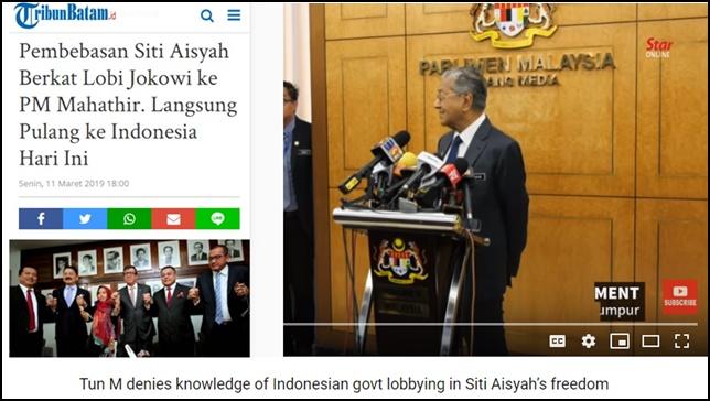 Video: PM Mahathir Bantah Dilobi Indonesia untuk Bebaskan Siti Aisyah