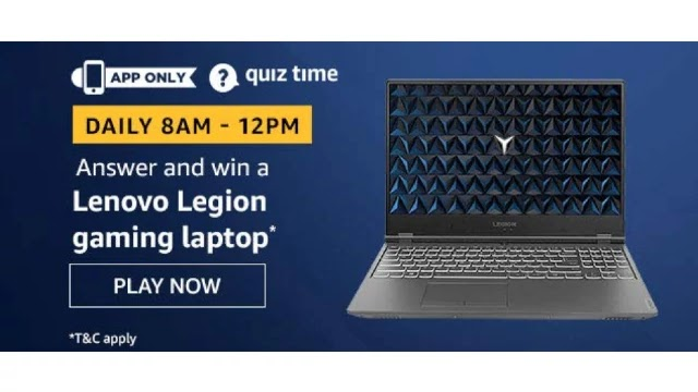 Amazon-Quiz-Answers-For-Today-2nd-May-2020-Win-Lenovo-Legion-Gaming-Laptop