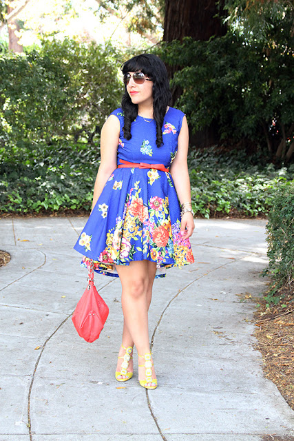 KTR Collection Blue Floral Dress Birthday Outfit Inspiration