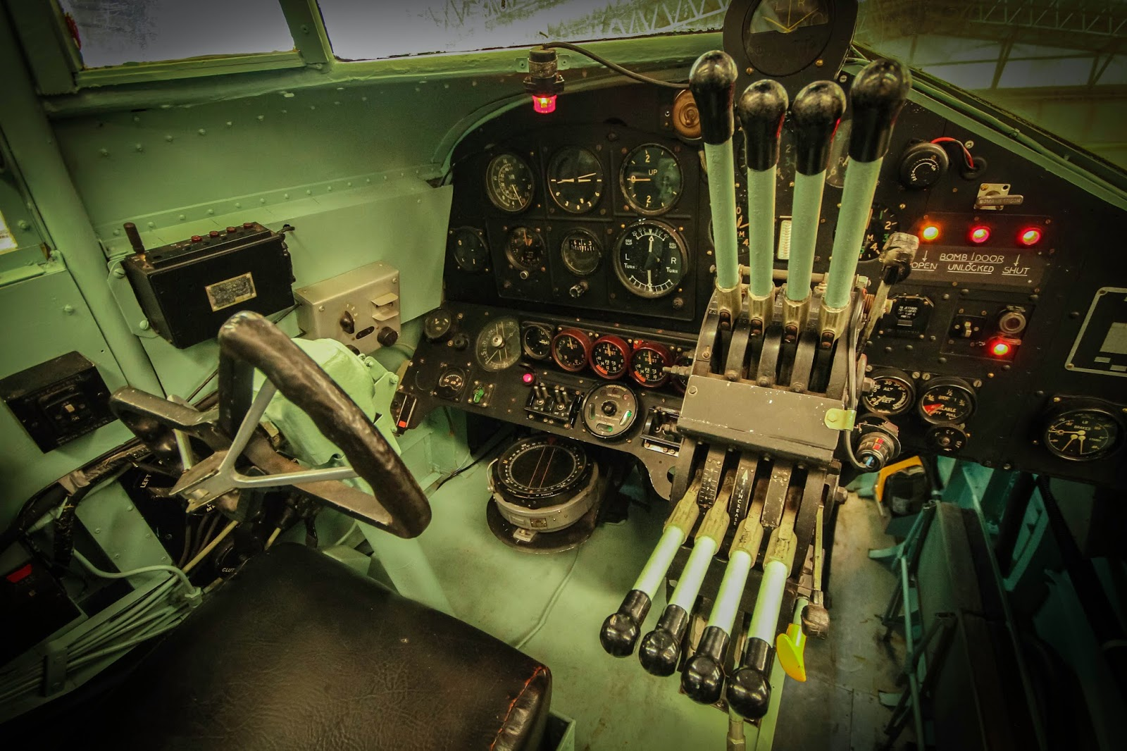 Military aircraft crash sites halifax at yorkshire air museum for Pictures inside