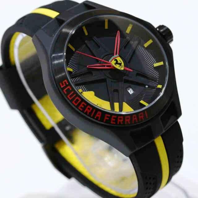 Ferrari Black Yellow - Toko Jam Online Pria Dan Wanita