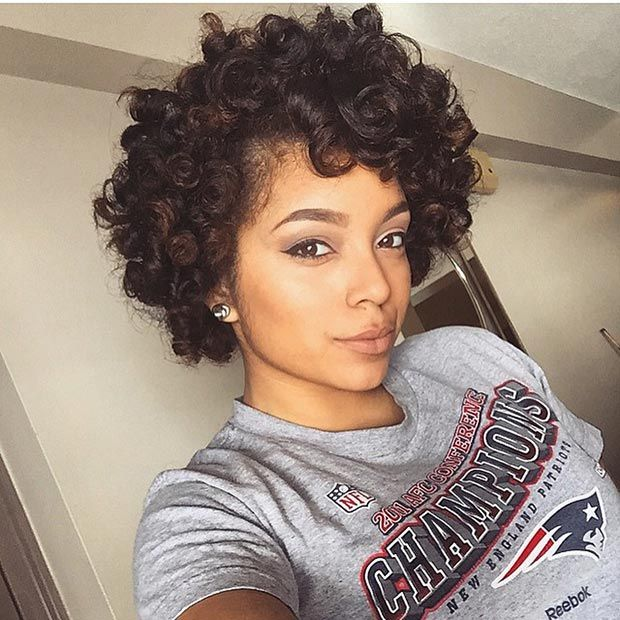 Natural Hairstyles For Short Hair African American - Cute Natural ...