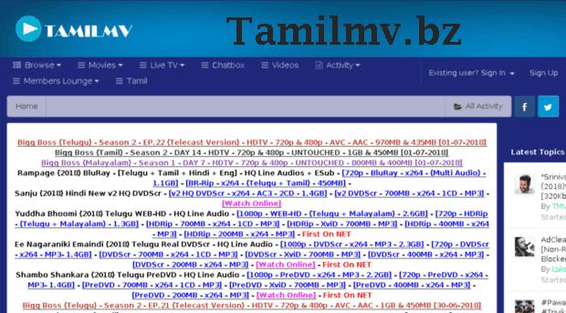 Tamilmv.bz- 2020 Tamil Telugu HD Movies Download tamilmv bz
