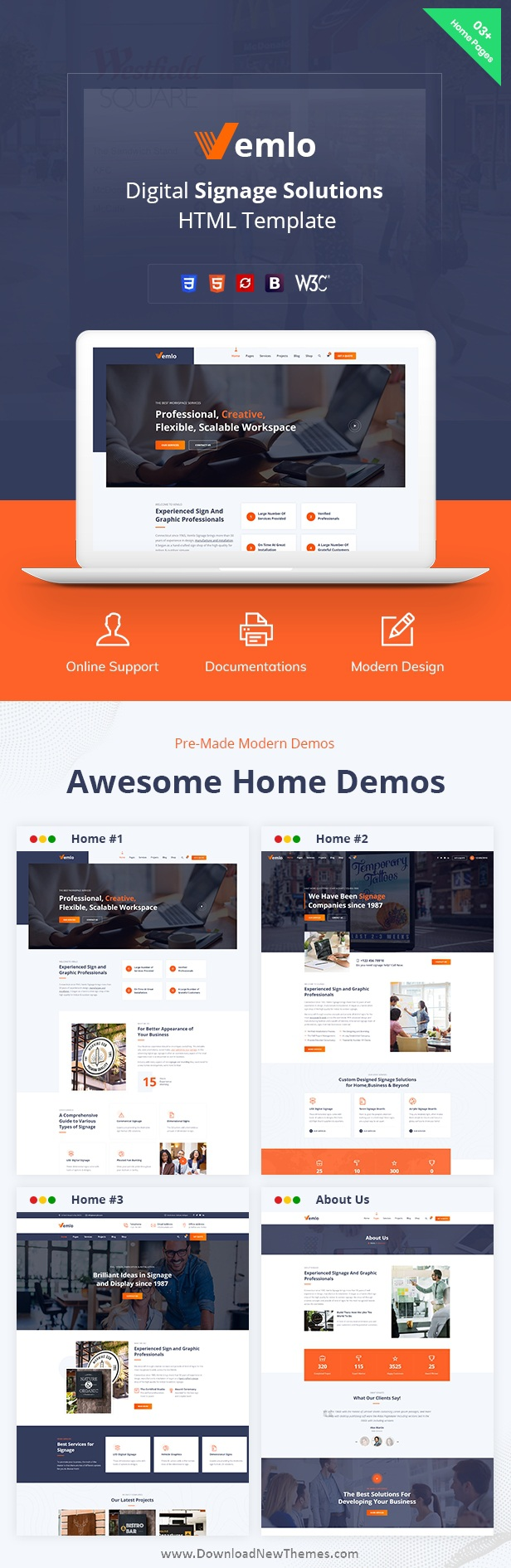 Digital Signage Services HTML Template