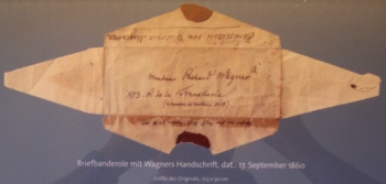 Briefbanderole Richard Wagners vom 17.09.1860