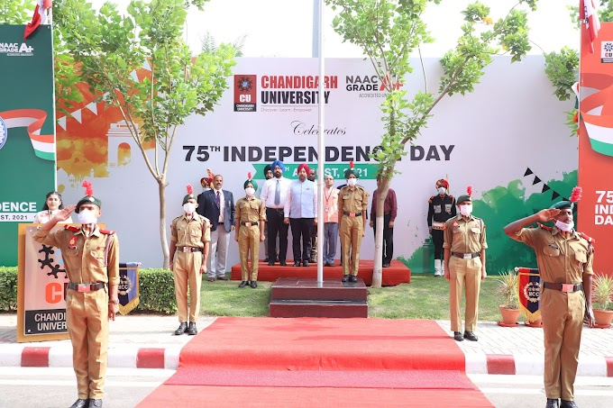 Chandigarh University Commemorate 75th Independence day