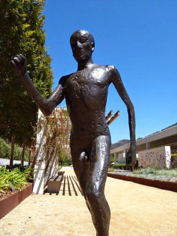 Running Man sculpture Elisabeth Frink Getty Center