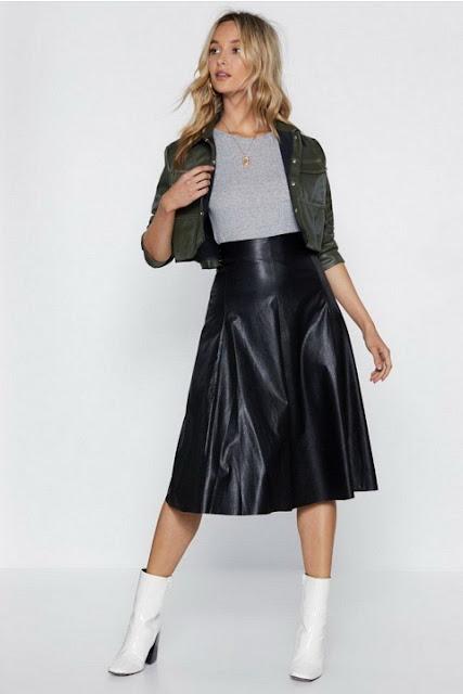 С чем носить кожаную юбку 0-4