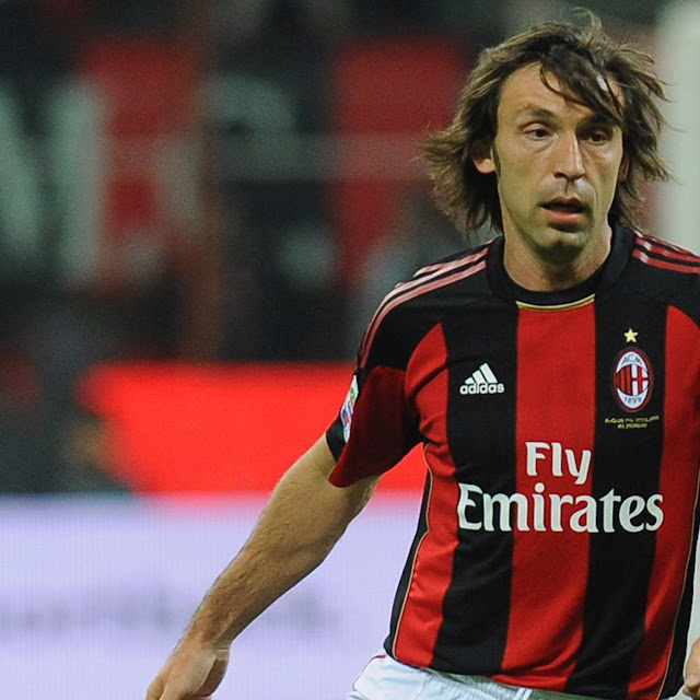 Andrea Pirlo in action for AC Milan