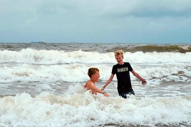 Scheveningen Strand Koude Zee