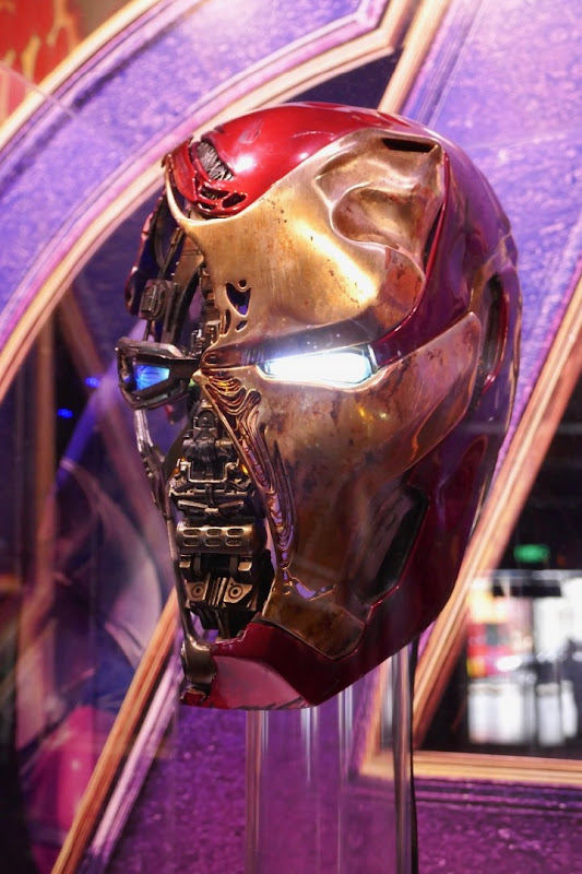 Avengers Endgame Damaged Iron Man helmet