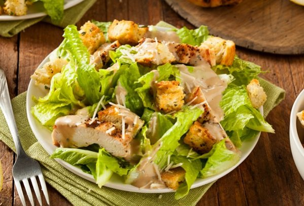 How Caesar salad works with chicks