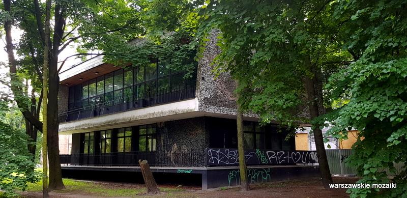 Warszawa Warsaw modernizm pawilon syreni śpiew mozaika warszawskie mozaiki powiśle architektura
