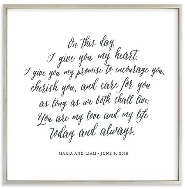 Minted Your Vows as an Art Print