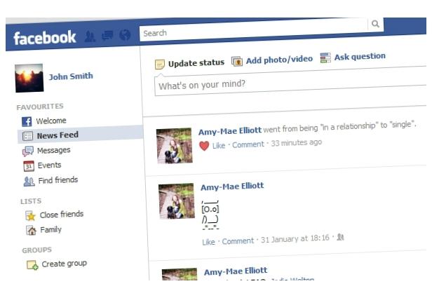 facebook timeline old relationship status gym