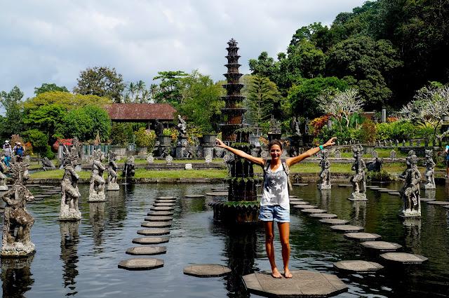 Le water palace de Tirta Gangga à Bali en Indonésie