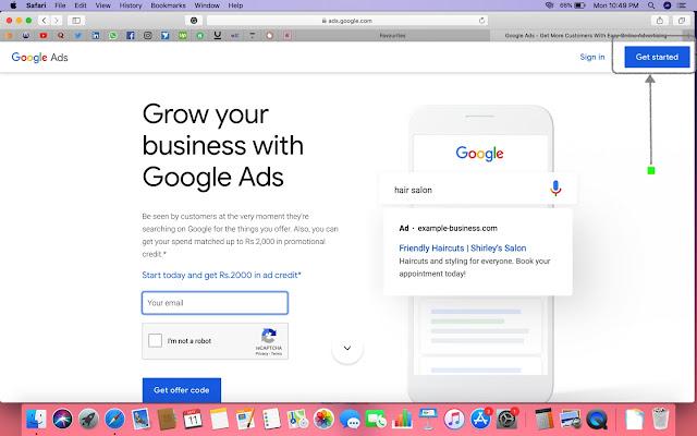 SIgn Up For Google ADS