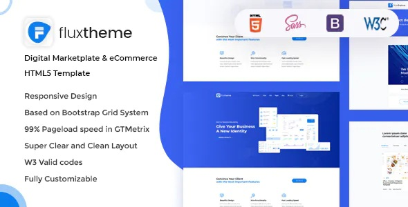Best Digital Marketplate and eCommerce HTML5 Template