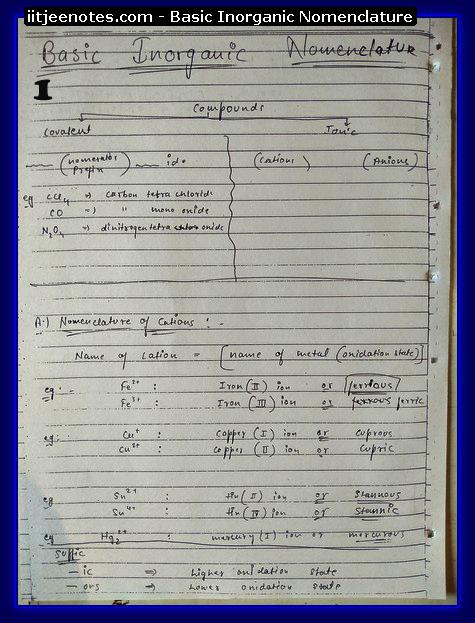Inorganic Nomenclature1