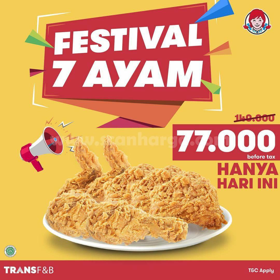 Wendy's Promo Festival 7 pcs Ayam hanya Rp. 77.000