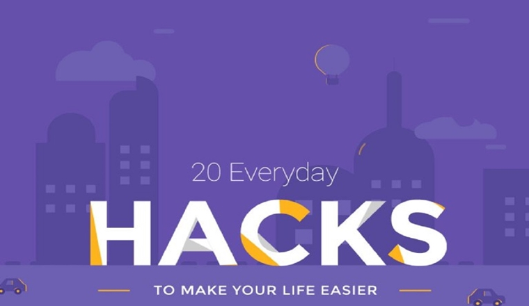 20 Life-Changing Hacks #infographic