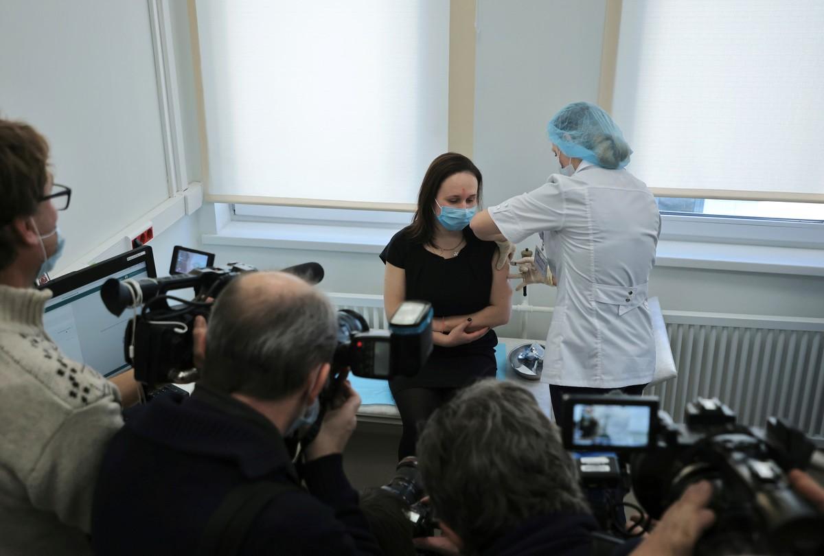 Vacunacion de Sputnik V en Rusia