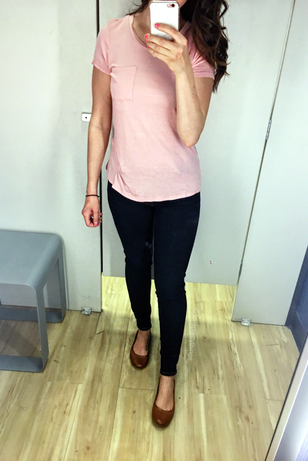 Blush tee shirt - Marshalls fitting room looks  - Tori's Pretty Things Blog