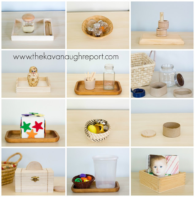 Montessori work ideas for toddlers. Here are Montessori activities for toddlers between 12 and 14 months old.